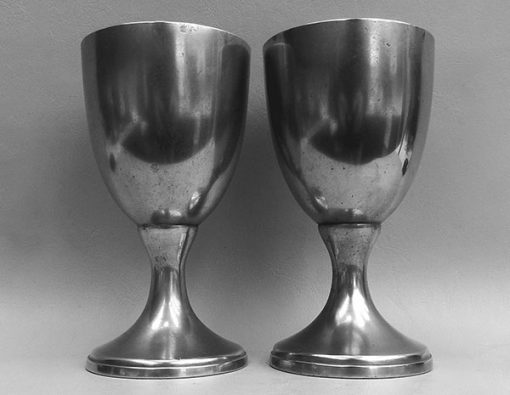 Pair American 19th Century Chalices