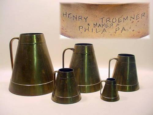 5 Brass Troemner Measures