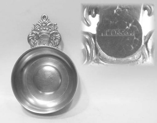 """5"""" Crown Handle Porringer by Thomas Boardman"""