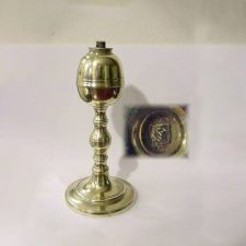"7¼"" Signed Brass Webb Lamp"