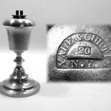 "7¼"" Yale and Curtis Whale Oil Lamp"