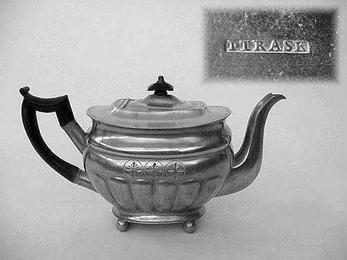 Boat Shape Teapot by Israel Trask