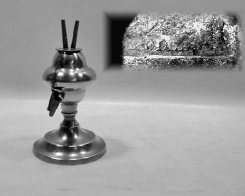 Burning Fluid Lamp by Roswell Gleason