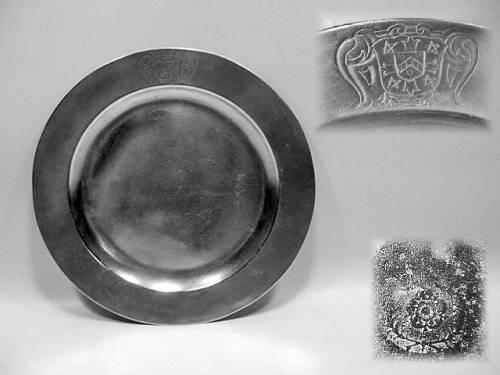 Decorated Flat Rim Plate