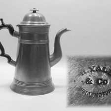 "10½"" Lighthouse Coffee Pot by Hiram Yale"