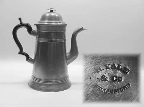 "10½"" Lighthouse Coffee Pot by Hiram Yale"