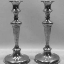 "Pair of 10"" New England Candlesticks"