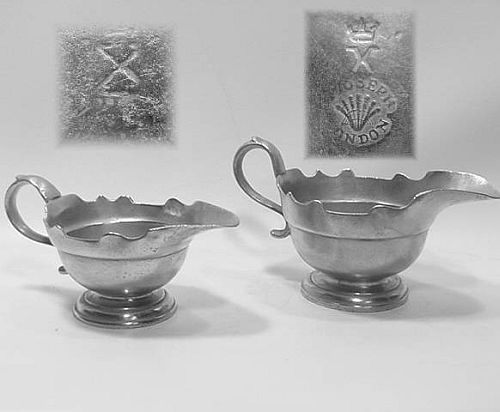 Pair of Henry Joseph Sauce Boats