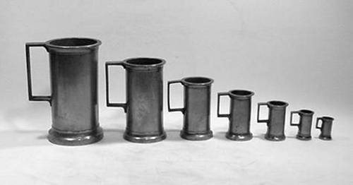 Set of Seven French Measures