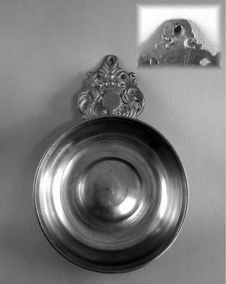 """SG"" Crown Handle Porringer"