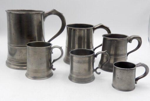 Assembled Set of 6 English Mugs
