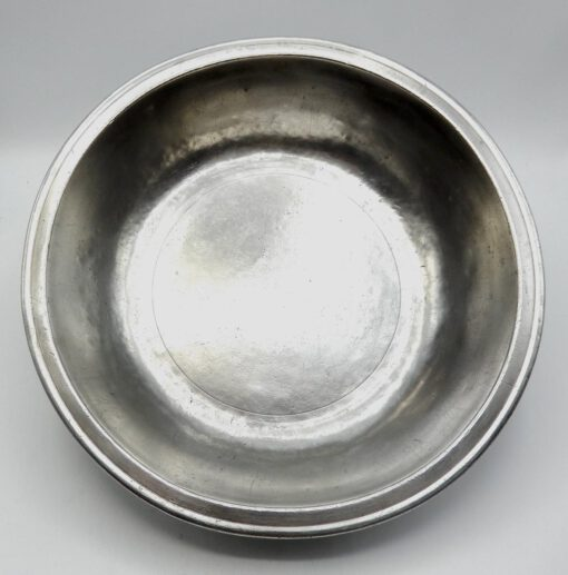 Large Marked American Pewter Basin