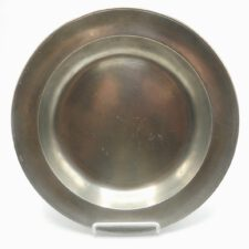 "Marked American Pewter 11"" Dish"