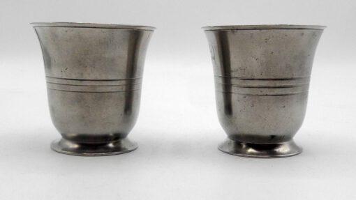 Pair of American Pewter Beakers