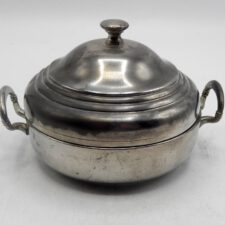 Pewter Lidded Butter Dish
