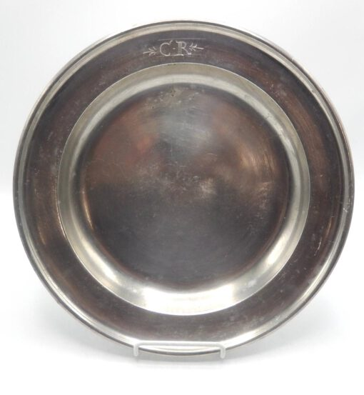 "Marked 12 ½"" Pewter Dish"