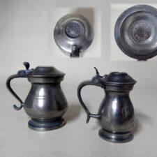 Set of 2 Edinburgh Scottish Pewter Measures