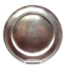"Marked American Pewter 12"" Dish by Samuel Danforth"