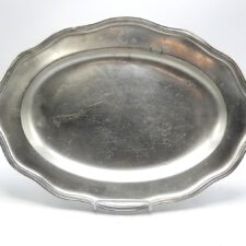 French Oval Pewter Platter