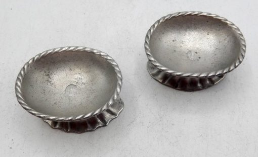 Pair of Early Pewter Salts