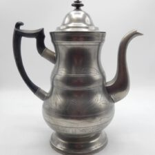 Engraved Boardman Pewter Coffeepot
