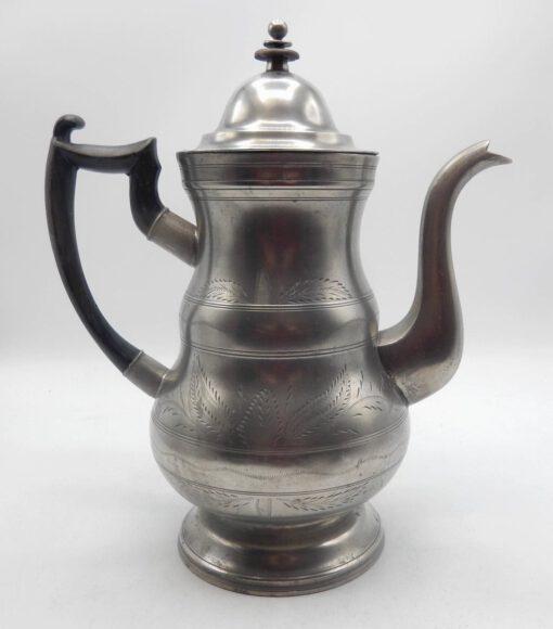 Engraved Boardman Pewter Coffeepot
