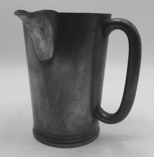 Quart English Pewter Mug with Pour Spout