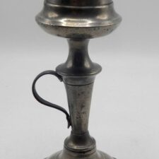 Israel Trask Pewter Lamp