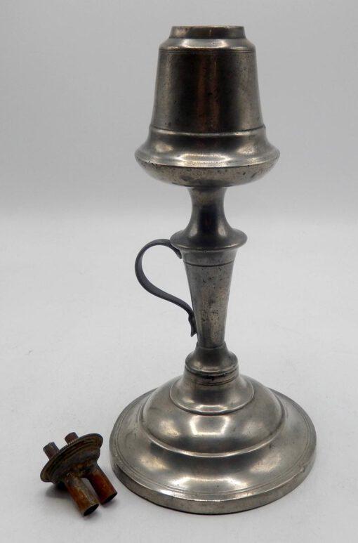 Israel Trask Pewter Lamp