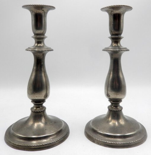 Pair of English Candlesticks