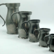 Rare Set of 5 American Marked 18th Century Measures